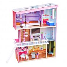 Domek drewniany dla lalek Aga4Kids TRACY z akcesoriami Preview
