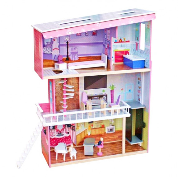 Domek drewniany dla lalek Aga4Kids TRACY z akcesoriami