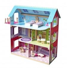 Domek drewniany dla lalek Aga4Kids LESLIE z akcesoriami Preview