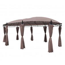 Pawilon, namiot ogrodowy owalny duży, 530 x 350 cm, beżowy Preview
