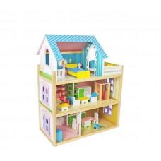 Domek drewniany dla lalek Aga4Kids NAOMI z akcesoriami Preview