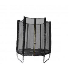 Trampolina Sport Indoor Aga 140 cm (4,5 Ft) z zewnętrzną siatką ochronną, czarna Preview