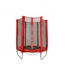 Trampolina Sport Indoor Aga 140 cm (4,5 Ft) z zewnętrzną siatką ochronną, czerwona Preview