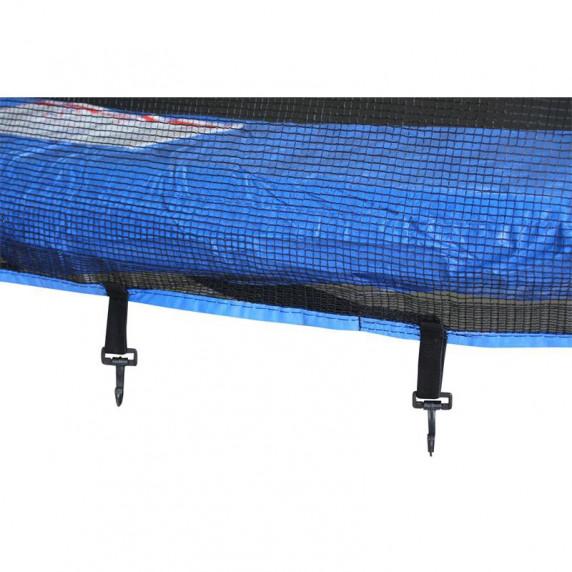 Trampolina Sport Top Aga 250 cm (8 Ft) z zewnętrzną siatką ochronną, niebieska