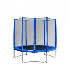Trampolina Sport Pro Aga 180 cm (6 Ft) z zewnętrzną siatką ochronną, niebieska Preview