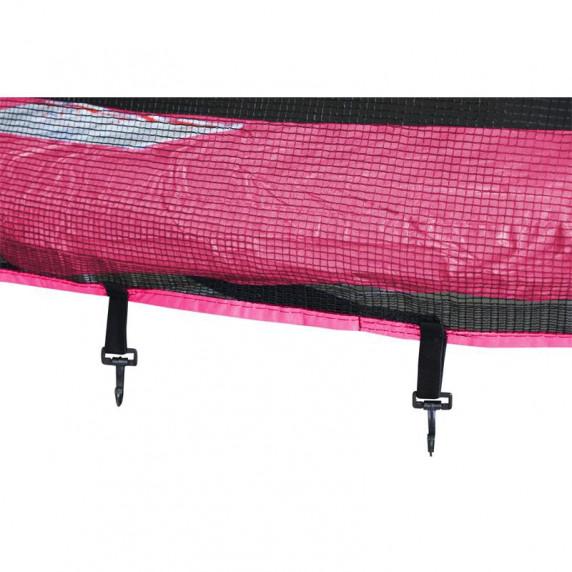 Trampolina Sport Top Aga 250 cm (8 Ft) z zewnętrzną siatką ochronną, różowa