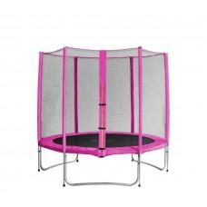 Trampolina Sport Pro Aga 250 cm (8 Ft) z zewnętrzną siatką ochronną, różowa Preview