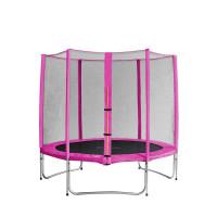 Trampolina Sport Pro Aga 305 cm (10 Ft) z zewnętrzną siatką  ochronną, różowa