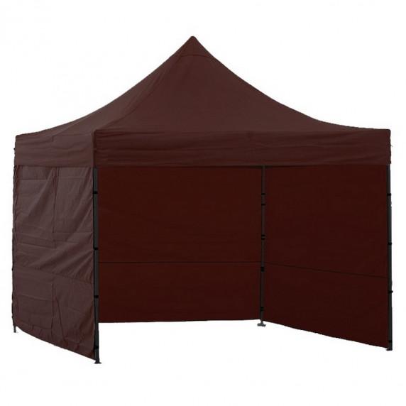 Namiot handlowy AGA 3S POP UP 3 x 3 m brązowy