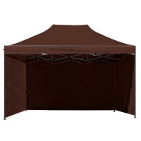 Namiot handlowy AGA 3S POP UP 3 x 4,5 m brązowy