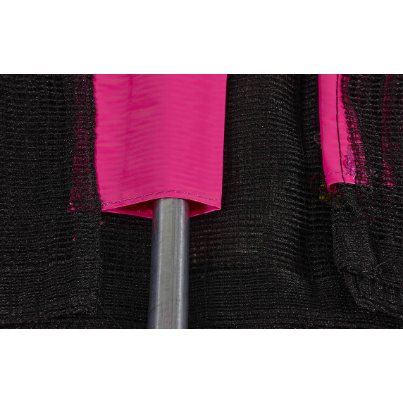 Trampolina Sport Top Aga 150 cm (5 Ft) z zewnętrzną siatką ochronną, różowa