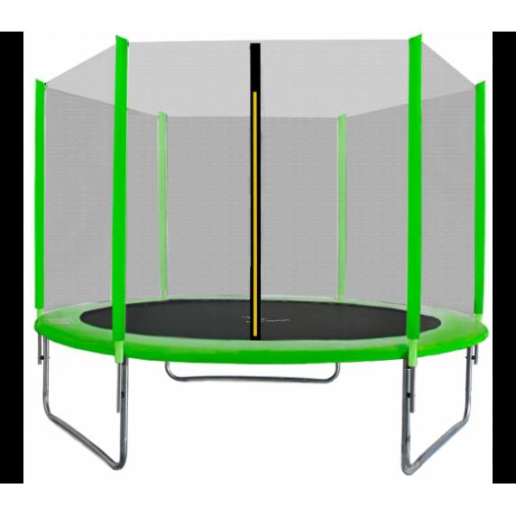 Trampolina Sport Top Aga 180 cm (6 Ft) z zewnętrzną siatką ochronną, zielona