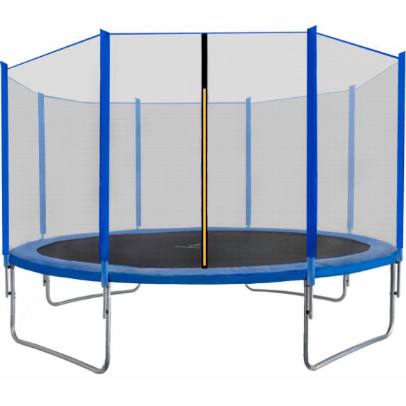 Trampolina Sport Top Aga 430 cm (14 Ft) z zewnętrzną siatką ochronną, niebieska