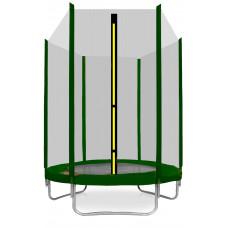 Trampolina Sport Top Aga 150 cm (5 Ft) z zewnętrzną siatką ochronną, ciemnozielona