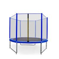 Trampolina Sport Pro Aga 250 cm (8 Ft) z zewnętrzną siatką ochronną, niebieska