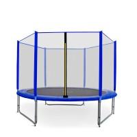 Trampolina Sport Pro Aga 305 cm (10 Ft) z zewnętrzną siatką  ochronną, niebieska