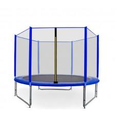 Trampolina Sport Pro Aga 305 cm (10 Ft) z zewnętrzną siatką  ochronną, niebieska Preview