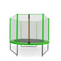 Trampolina Sport Pro Aga 250 cm (8 Ft) z zewnętrzną siatką ochronną, jasnozielona