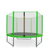 Trampolina Sport Pro Aga 305 cm (10 Ft) z zewnętrzną siatką  ochronną, jasnozielona