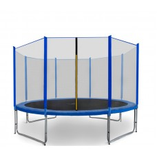 Trampolina Sport Pro Aga 366 cm (12 Ft) z zewnętrzną siatką ochronną, niebieska Preview