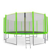 Trampolina Sport Pro Aga 460 cm (15 Ft) z zewnętrzną siatką ochronną, jasnozielona