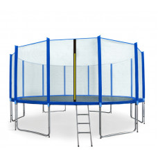 Trampolina Sport Pro Aga 500 cm (16 Ft) z zewnętrzną siatką ochronną, niebieska Preview
