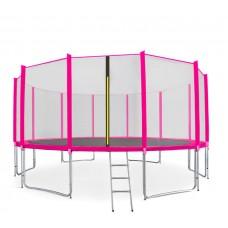 Trampolina Sport Pro Aga 500 cm (16 Ft) z zewnętrzną siatką ochronną, różowa Preview