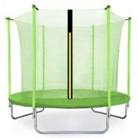 Trampolina Sport Fit Aga 250 cm (8 Ft) z wewnętrzną siatką ochronną, jasnozielona