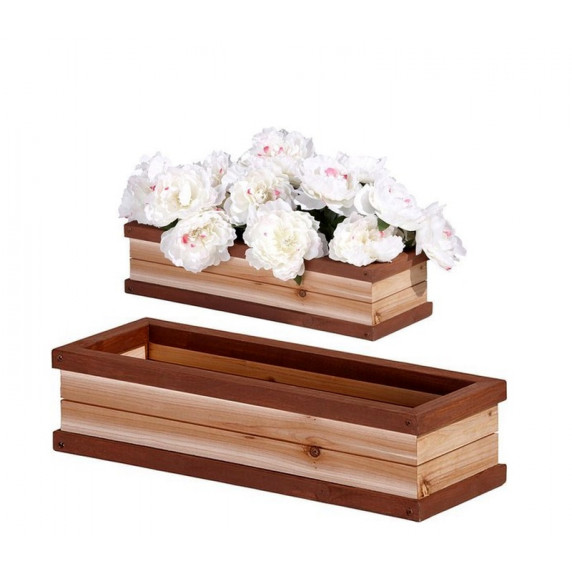Skrzynka drewniana AXI Flower Box na kwiaty, do domku dla dzieci