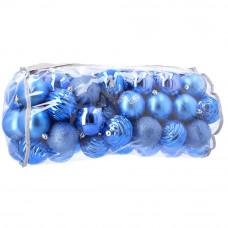Bombki choinkowe Inlea4Fun, 80 sztuk w komplecie, niebieskie Preview