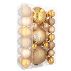 Bombki choinkowe Inlea4Fun, mix 37 sztuk, złote Preview