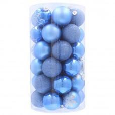 Bombki choinkowe Inlea4Fun, 41 sztuk w tubie, 6 cm, niebieskie Preview