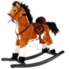 Koń na biegunach Aga4Kids jasny brąz - rży, galopuje i rusza ogonem Preview