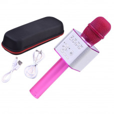 Mikrofon bezprzewodowy Inlea4Fun INOX, bluetooth z głośnikiem, różowy Preview