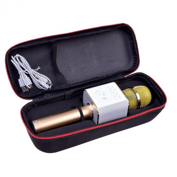 Mikrofon bezprzewodowy Inlea4Fun INOX, bluetooth z głośnikiem, różowy