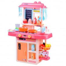 Kuchnia dla dzieci Inlea4Fun IGA, ze światłem i dźwiękiem, plastikowa 40 elementów, różowa Preview