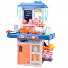 Kuchnia dla dzieci Inlea4Fun IGA, ze światłem i dźwiękiem, plastikowa 40 elementów, niebieska Preview