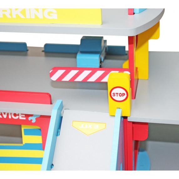 Garaż drewniany dla dzieci Aga4Kids Hubert Garage z akcesoriami