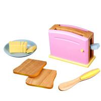 Toster drewniany dla dzieci KidKraft Toaster Pastel z grzankami