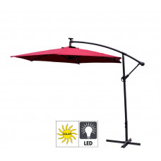 Parasol ogrodowy EXCLUSIVE LED  Dark Red 300 cm Preview