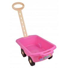 Wózek z rączką - przyczepka 45 cm, różowy Preview