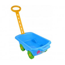 Wózek z rączką - przyczepka 45 cm, niebieski Preview
