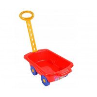 Wózek z rączką - przyczepka 45 cm, czerwony