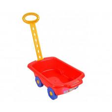 Wózek z rączką - przyczepka 45 cm, czerwony Preview