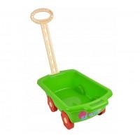 Wózek z rączką - przyczepka 45 cm, zielony