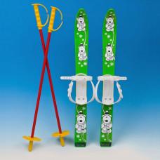 Narty z kijkami 70 cm, zielone Preview