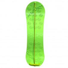 Ślizg Snowboard z linką i uchwytem, zielony Preview