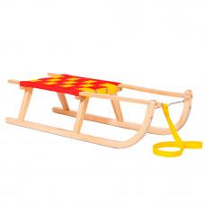 Sanki drewniane GROŃ Inlea4Fun, bez oparcia 90 cm, miękkie siedzisko Preview
