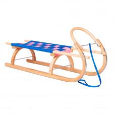 Sanki drewniane KRYWAŃ Inlea4Fun, 110 cm, miękkie siedzisko, gięty kołowrót Preview
