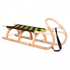 Sanki drewniane KRYWAŃ Inlea4Fun, 125 cm, miękkie siedzisko, gięty kołowrót Preview